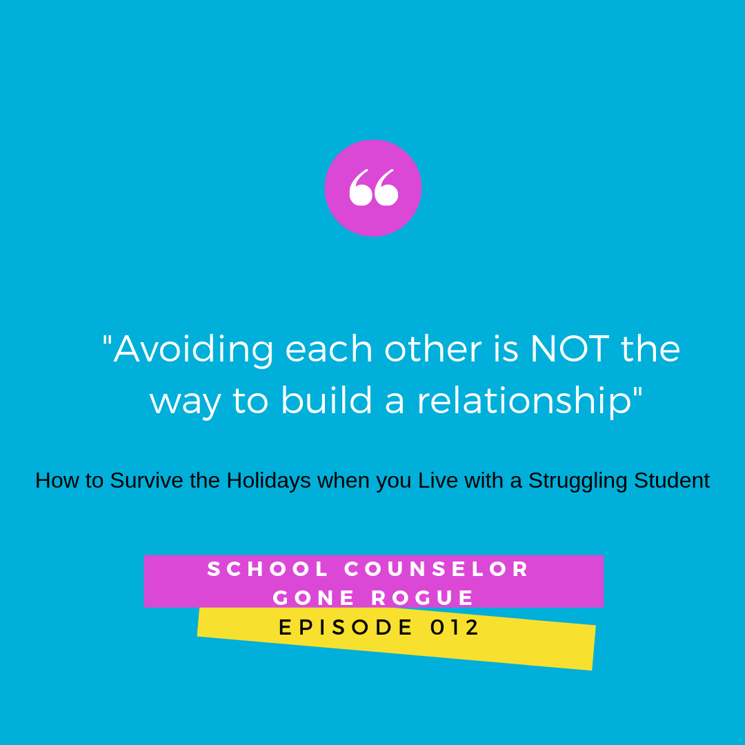 """Our school district sends progress reports home at break!!! WTH?!  In what Thanksgiving photo does a family review their kiddo's grades? Did the pilgrims fight over report cards at the first Thanksgiving? I DON""""T THINK SO!  On this episode of School Counselor Gone Rogue we chat surviving the holidays when your child is struggling at school   #schoolcounselorgonerogue #parenting #middleschool #highschool   Marni Pasch - Team Pasch Academic Coaching."""