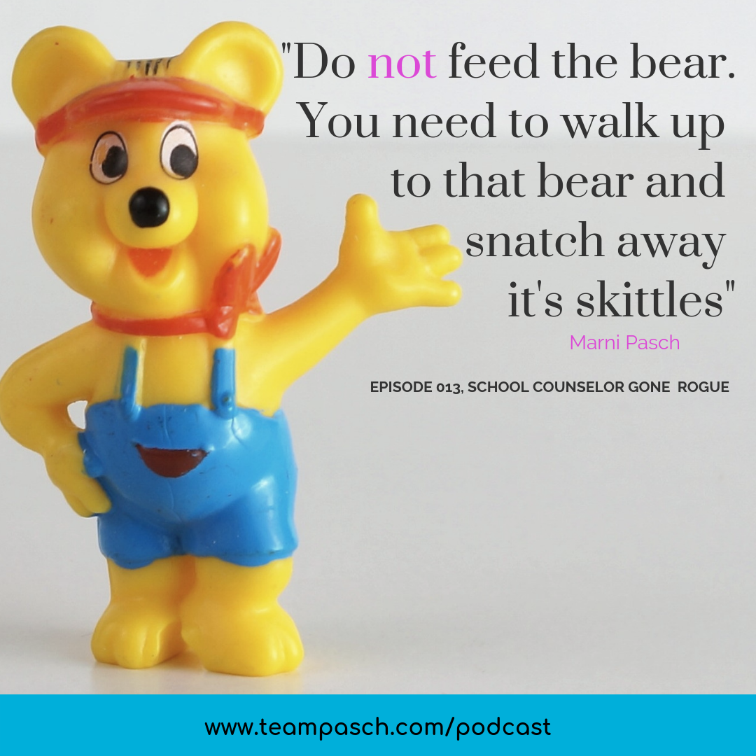 Perfectionism is a very real struggle for students. Yes, this image is incredible creepy and haunting, but it invokes the same lingering feeling that perfectionism causes.  This week we are chatting about perfectionism and how to NOT feed the perfectionist bear.  You can listen to the podcast on Itunes, Google Play, Stitcher or on my website!   #schoolcounselorgonerogue #parenting #middleschool #highschool   Marni Pasch - Team Pasch Academic Coaching.