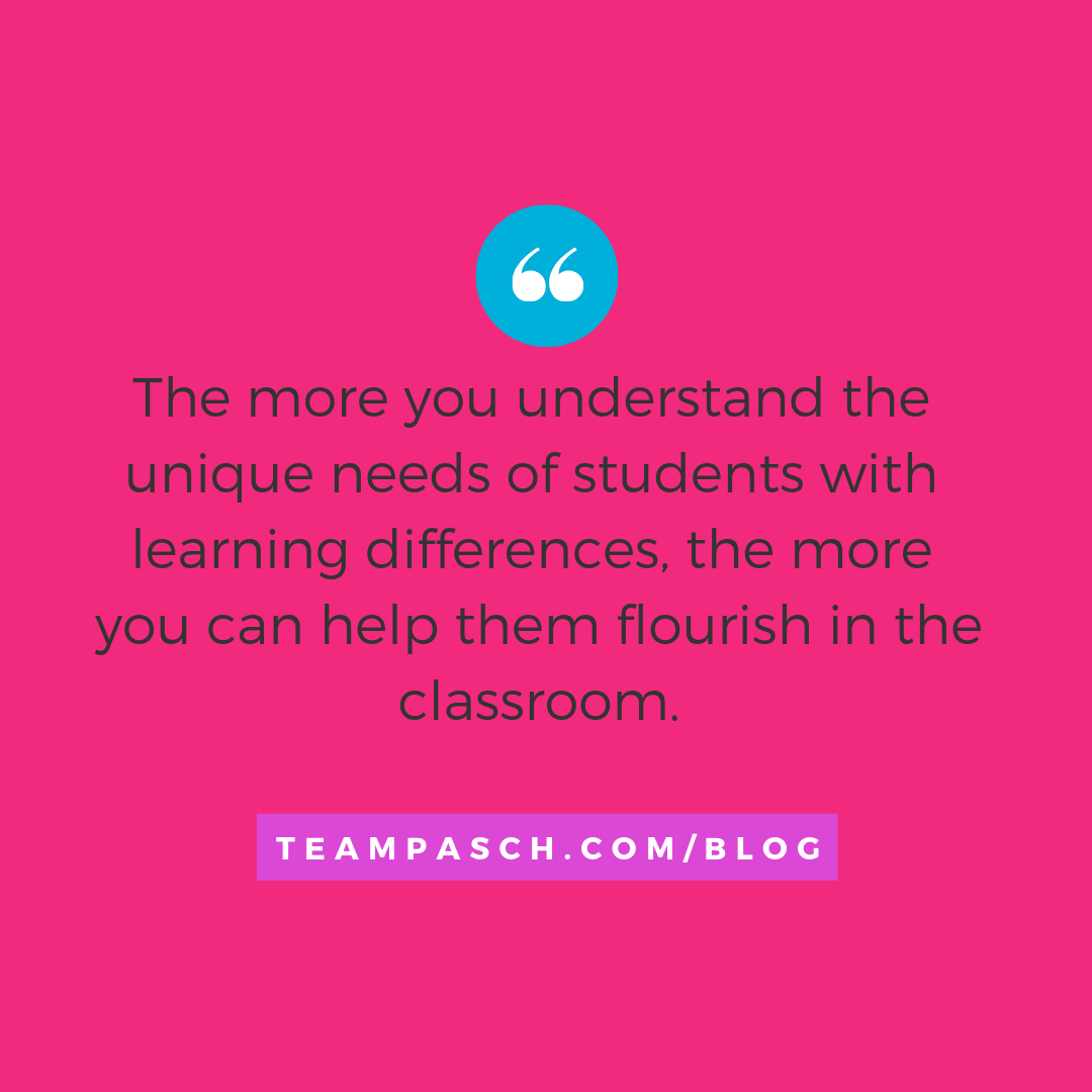 How can you help a child with learning differences? Whether you are a teacher or parent, chances are you know someone with an invisible disability.  Checkout the blog about resources for parents and educators to advocate for students who need support!