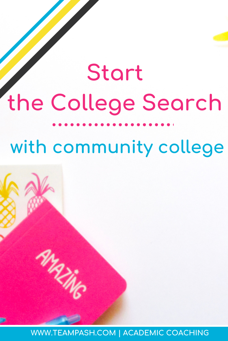 If your teenager is starting their college search, start with your local community college. Learn all the opportunities the school offers before crossing it off your list.  Share with high school students looking to expand their college choices!   Marni Pasch -Academic Coach Team- Pasch Academic Coach  Podcast School Counselor Gone Rogue   www.teampasch.com