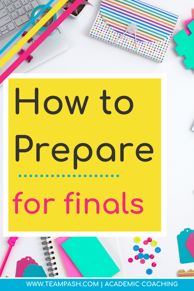 Preparing for finals can be scary especially when you think your year grade depends on them! We look at 3 simple techniques to prepare for finals that work for middle school, high school and college students.    Click to learn more!    Marni Pasch Team Pasch Academic Coaching www.teampasch.com