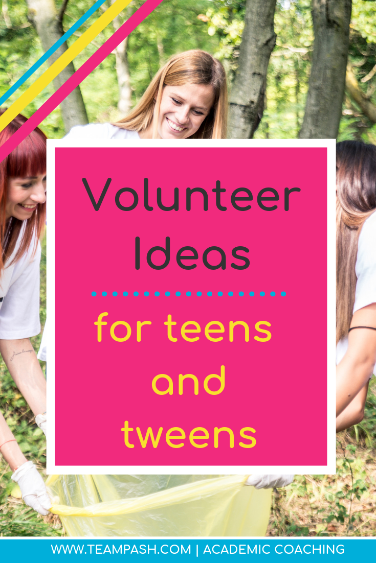 Looking for volunteer positions for teenagers and middle school students can be difficult.. Here are 5 ways to help your child give back and find their passions through volunteer work.   Click to learn more!    Marni Pasch Team Pasch Academic Coaching www.teampasch.com