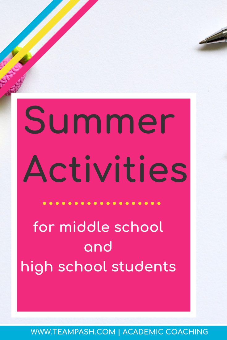 Looking for activities for your child this summer that don't involve the remote control? Here are the summer activities that involve learning and growth! Click here to plan a summer vacation that balances learning and fun!   Marni Pasch -Academic Coach Team- Pasch Academic Coach  Podcast School Counselor Gone Rogue   www.teampasch.com