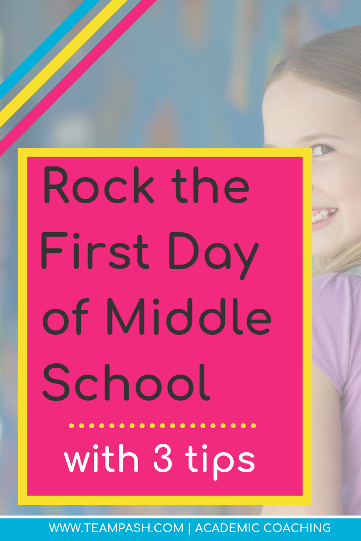 Are you ready for middle school? Did your teen have a rough start last year? Here are three tips to rock the new year of middle school!  #middleschool  Marni Pasch Team Pasch Academic Coaching www.teampasch.com