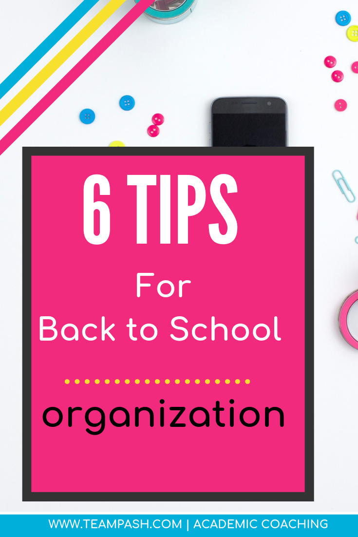 Parents if your teen is headed back to school, why not help them get organized? Here are simple step to help your child have an organized school year!   Marni Pasch -Academic Coach Team- Pasch Academic Coach  Podcast School Counselor Gone Rogue   www.teampasch.com