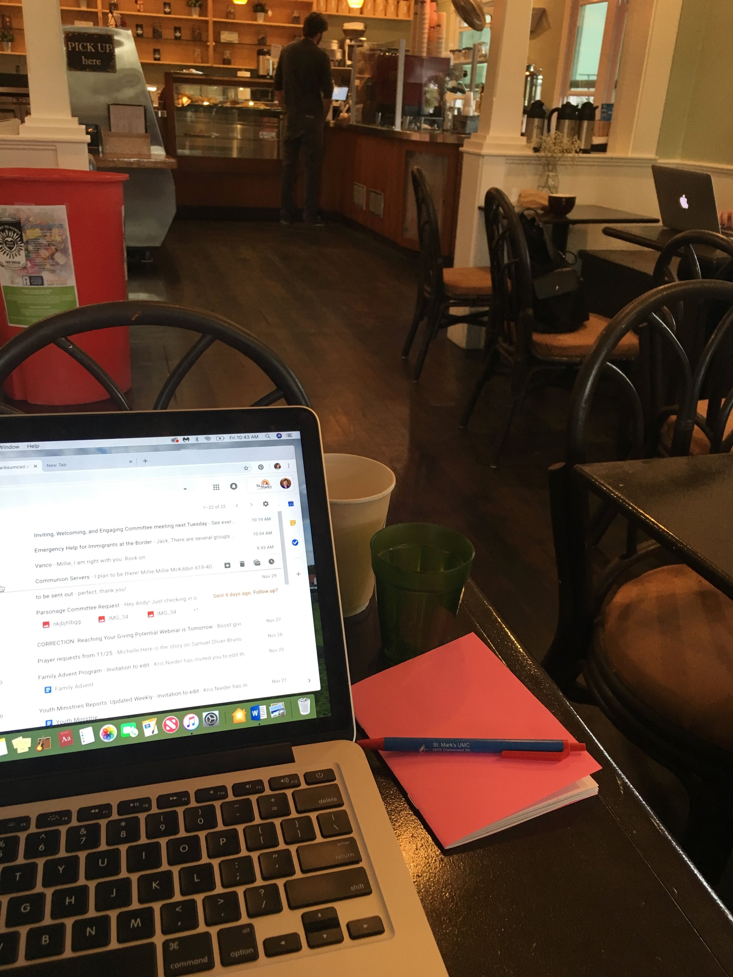 Got some good work done at my favorite coffee shop, Brick and Bell in Pacific Beach.