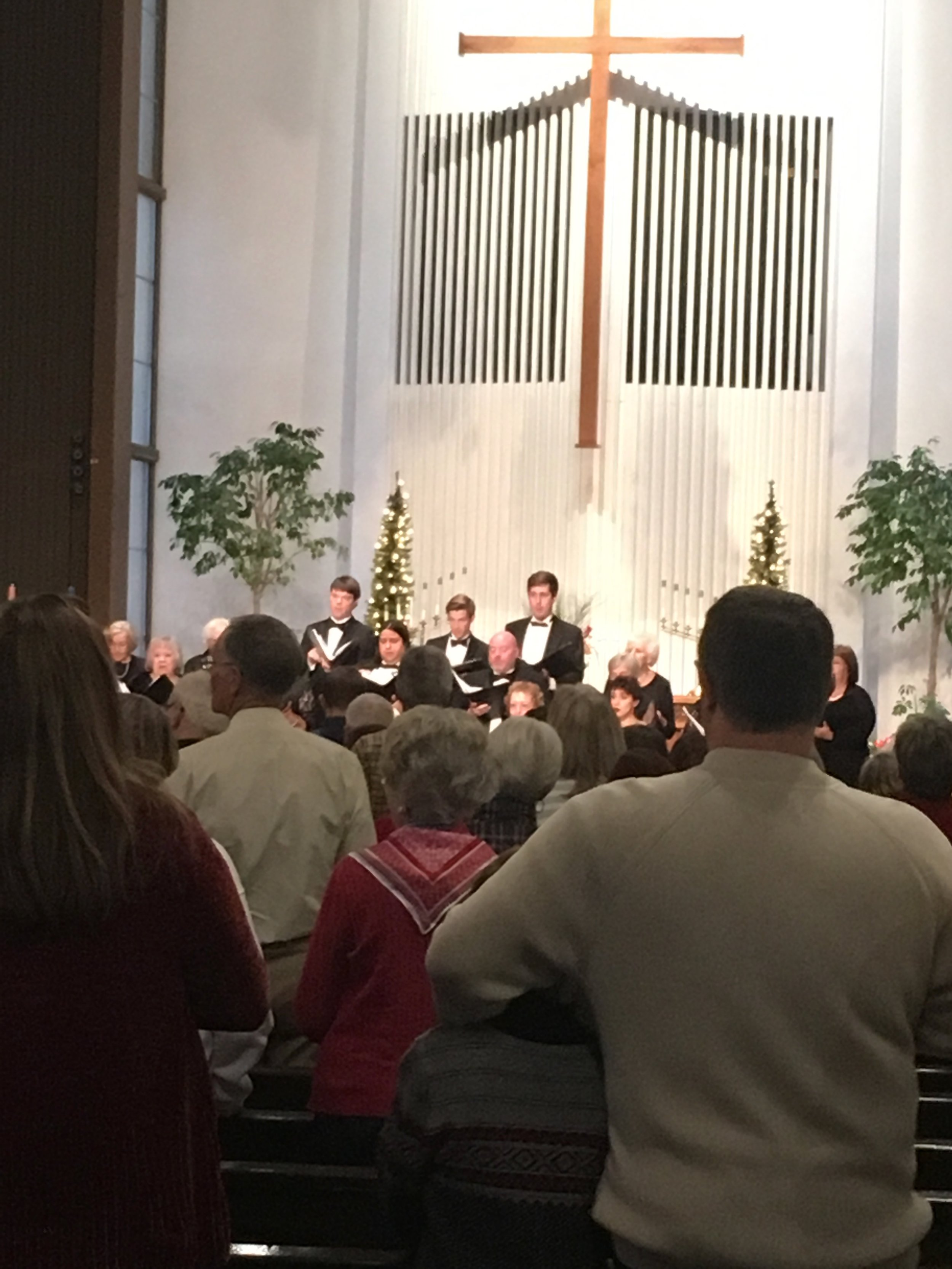 Enjoyed our church's annual Christmas concert. Superb!