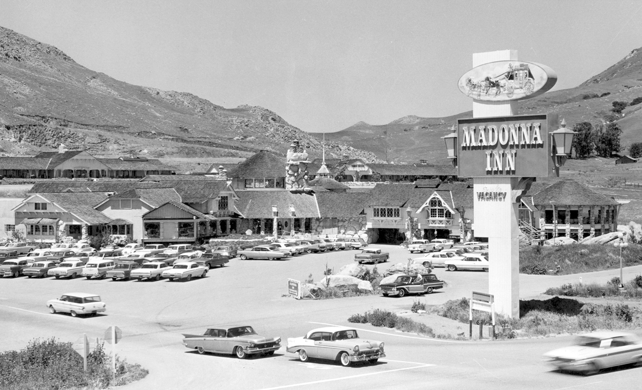Entrance to Madonna Inn 1962