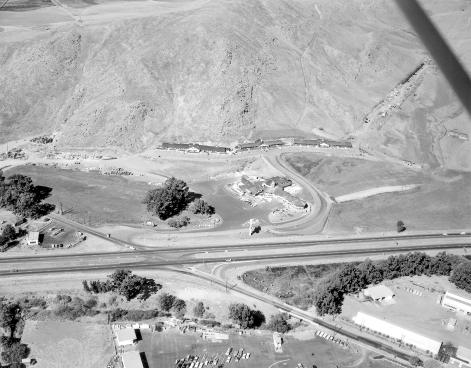 Aerial view of Madonna Inn