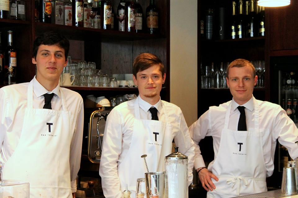 the stagiaire, in gear, with the termini team