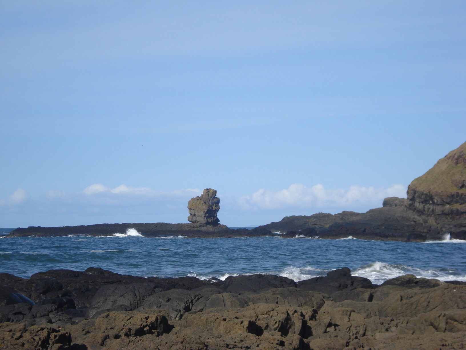 The Giant's Causeway. 'A basalt tooth jutting out above the waves'
