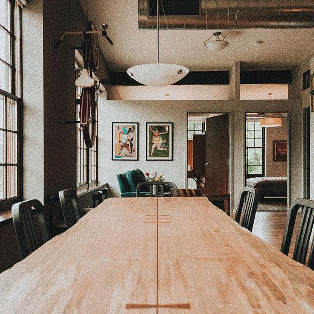 Such a cozy little place to sneak away to! When the suite isn't booked with our brides, you can find it on @airbnb ⠀ -⠀ Learn more about the NOHO Akron Cascade Lofts on fb!