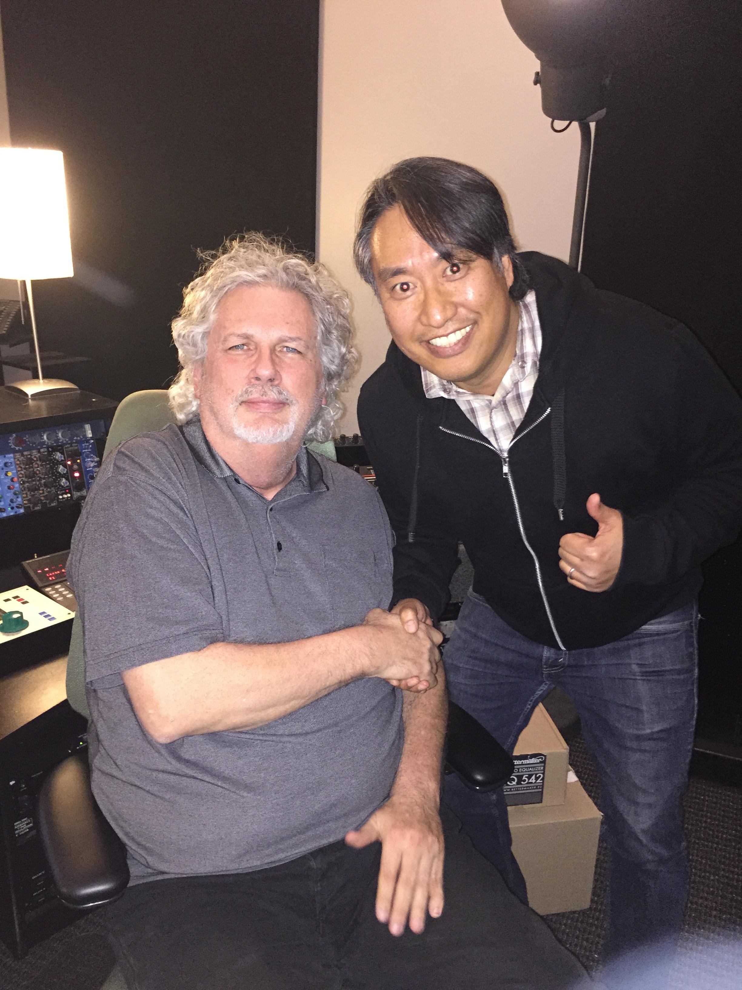 at Pensado's Place with the man himself, mixer extraordinaire Dave Pensado