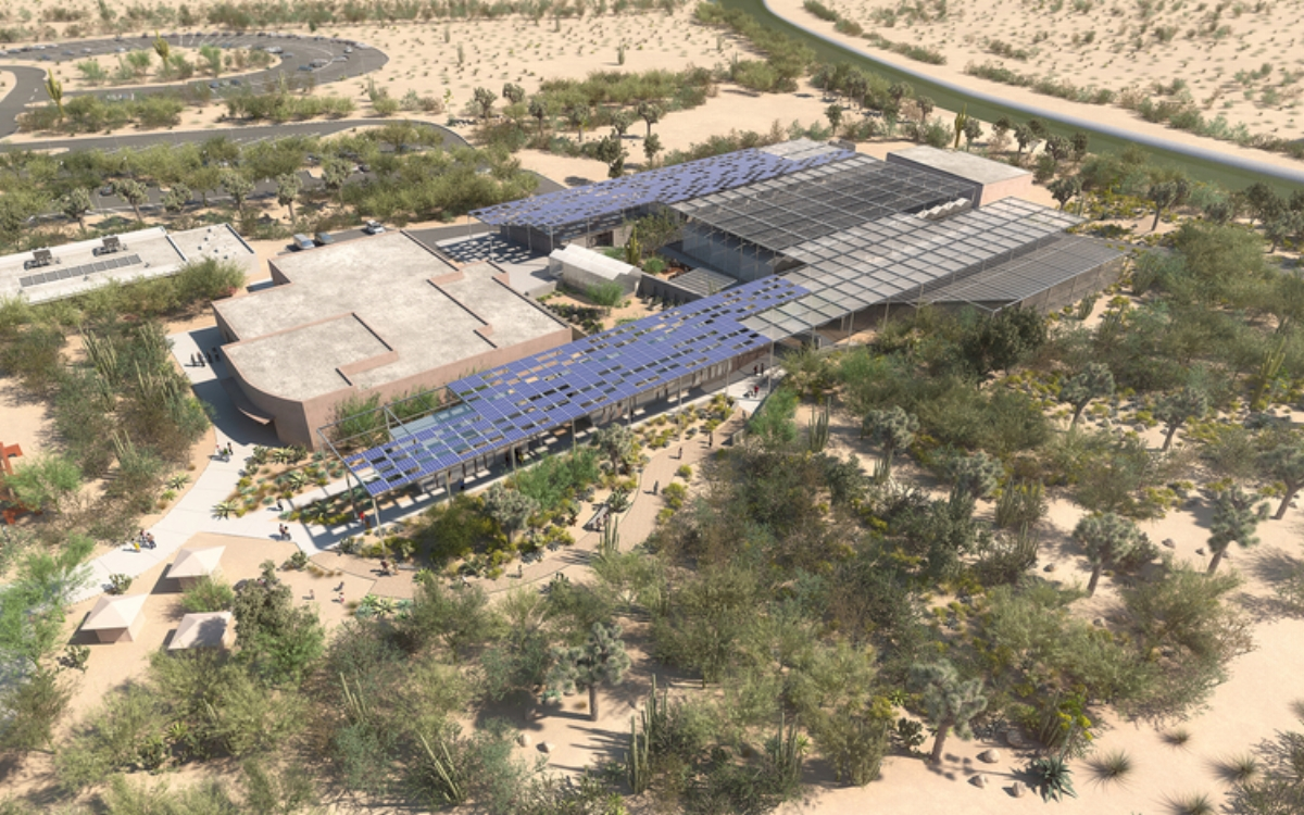 Desert Botanical Garden | PHX - MASTER PLAN COMMERCIAL CAMPUSDeployment of Inflexion technology at scaleRange of greenhouse, education and administrative structuresObjective to be the 1st in Arizona to achieve the exhaustive, ultra-sustainable Living Building Challenge