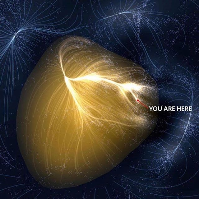 From the #DYK and #thingsthatmakeyougohmm  files.  #Repost from @bosplanet with @regram.app ... #perspective on our place in space.  We've all thought about our place in the #Cosmos at some point in our lives. ✨  All we know for sure is where we are in our home Galactic Supercluster called 🌌 Laniakea, made of 100,000 galaxies stretched out over 520 million light-years! That little red dot, that's not even our Solar System, that's the Milky Way. And the Universe we can observe, is made up of 2 trillion #galaxies spanning 93 billion light years across! - still a lot of ground to cover 😆