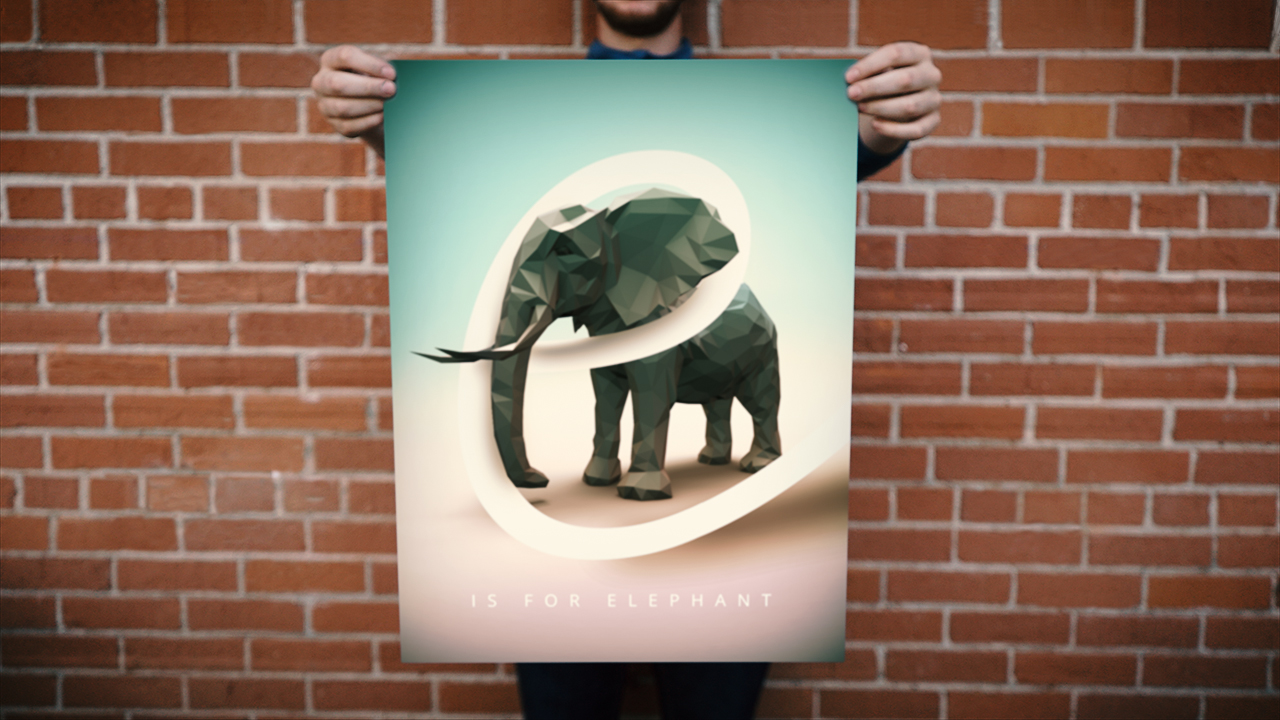 Creating a Low-poly Poster in CINEMA 4D and Photoshop