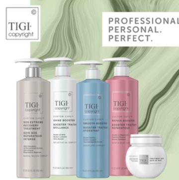 TIGI Copyright - A brand new, customizable haircare brand, built on the human truth that no two people are the same and driven by the growing trend and desire for unique, personalized products. One treatment contains as much protein as is lost by damaged hair in one year.