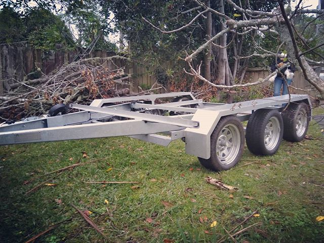 The smart trailer plus in its mini format. Great to tow and do things with... #trailers #smarttrailer #weemakechangetrailer #tinyhousenz #tinyhousetrailer #tinyhousetrailers
