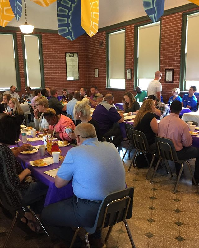 THIS is what a room full of OPTIMISM, ENTHUSIASM, and ENERGY looks like!  Last week, your Lonoke Chamber was honored to continue our tradition of feeding our new Lonoke School District teachers and administration.  It was exciting to hear the vision of each of our principals and coaches, as we welcome new faces, creative ideas, and fresh leadership to our community.  The FUTURE OF LONOKE is bright, because it is in the hands of these educators and leaders.  #WelcomeToLonoke! #BelieveInLonoke 💜🐰💜 #LoveLonoke #UnityBuildsCommunity
