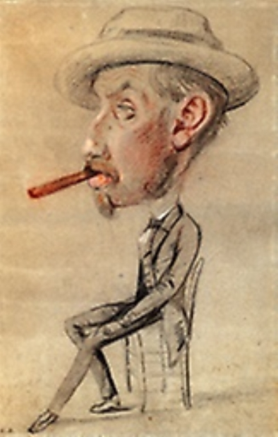 Caricature of a Man with a Big Cigar, Claude Monet at The Art Institute of Chicago