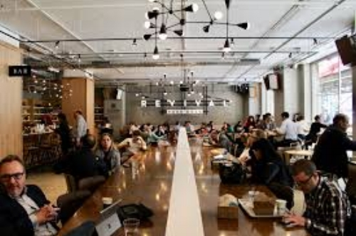 Revival Food Hall's Lunch Table Style Seating