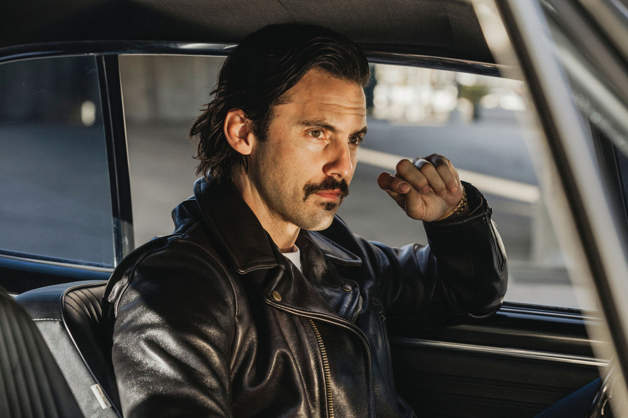 Milo Ventimiglia in Horween Leather Co. X Schott for 3sixteen, Photograph by Julian Berman for 3sixteen