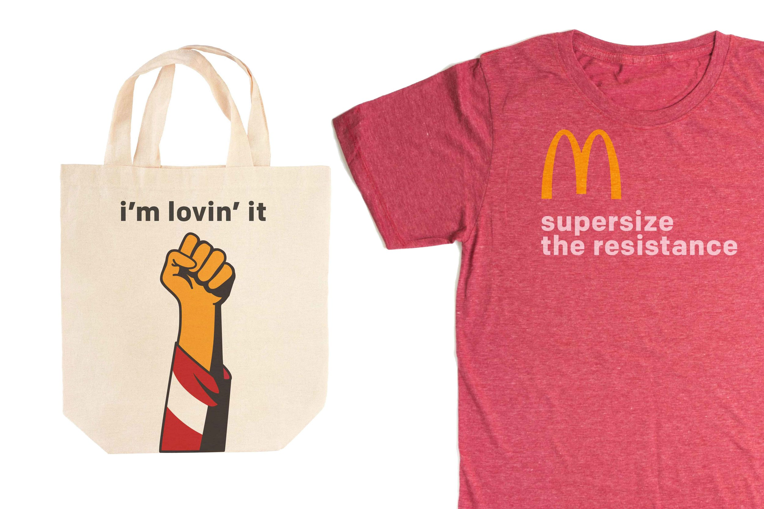 Tees, tote bags, and hats were all sold by Hunt, Gather to raise money for Meal on Wheels.
