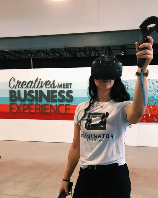 We had a blast with our VR set up at the @createmeetbiz experience happy hour!