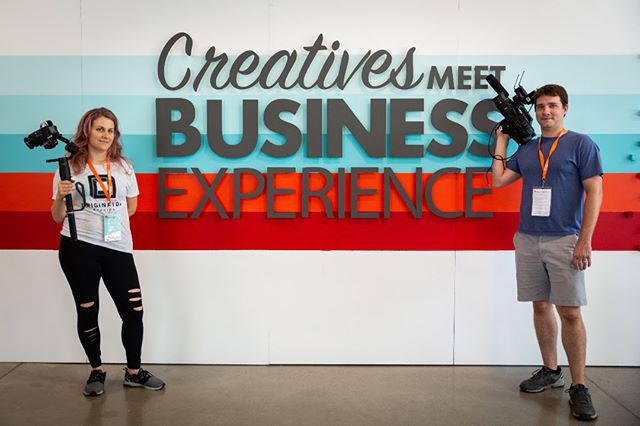 Our producers Kelly and Willie working their magic with the ronin and FS5 at @createmeetbiz experience this weekend.