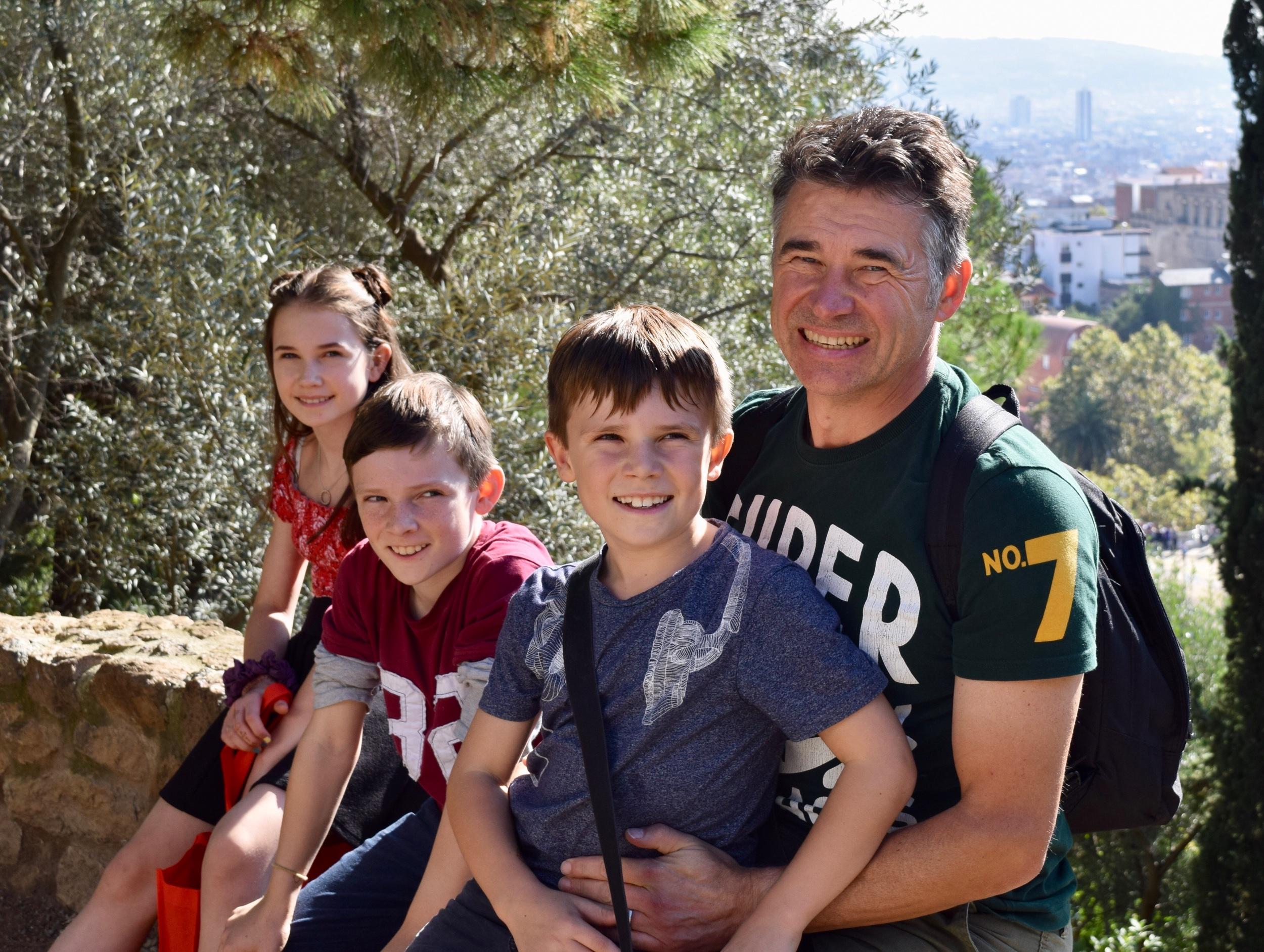 Katie's husband Matthew, and their children Poppy, Josiah and Solomon.