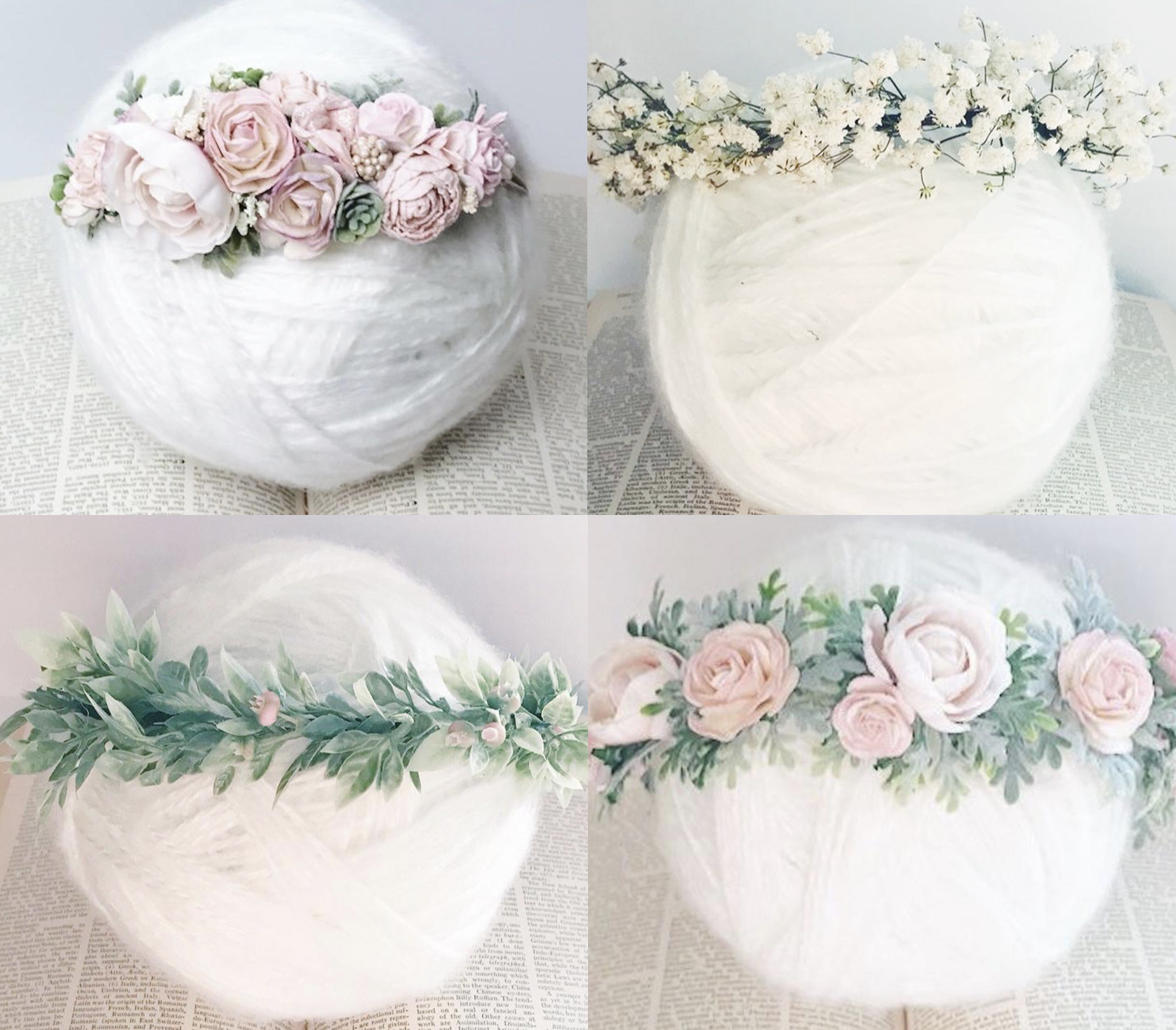 Here are the head  wreaths that will be available for clients to use this year should they wish! Aren't they stunning?!?