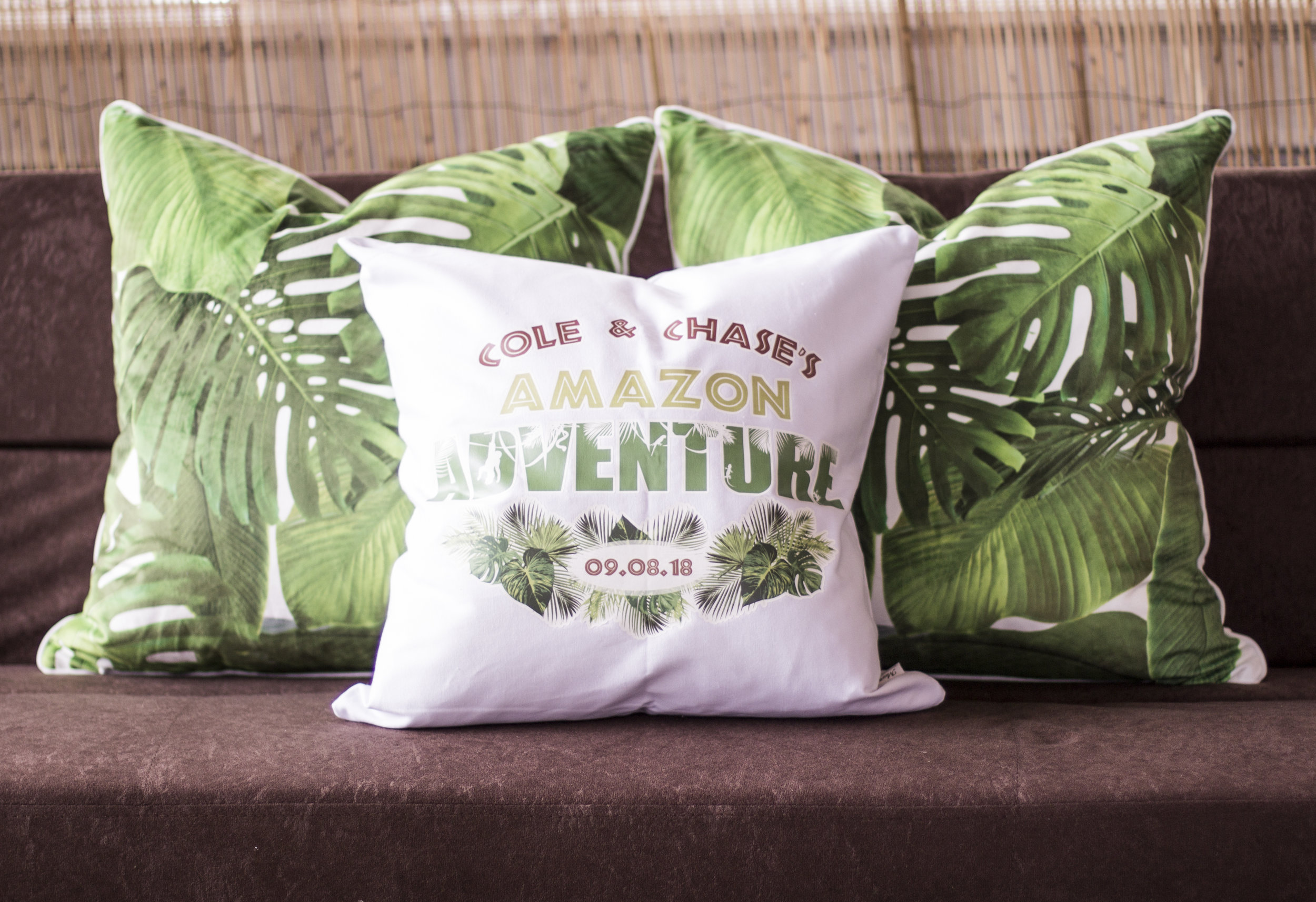 custom mitzvah pillows for amazon jungle themed mitzvah lounge