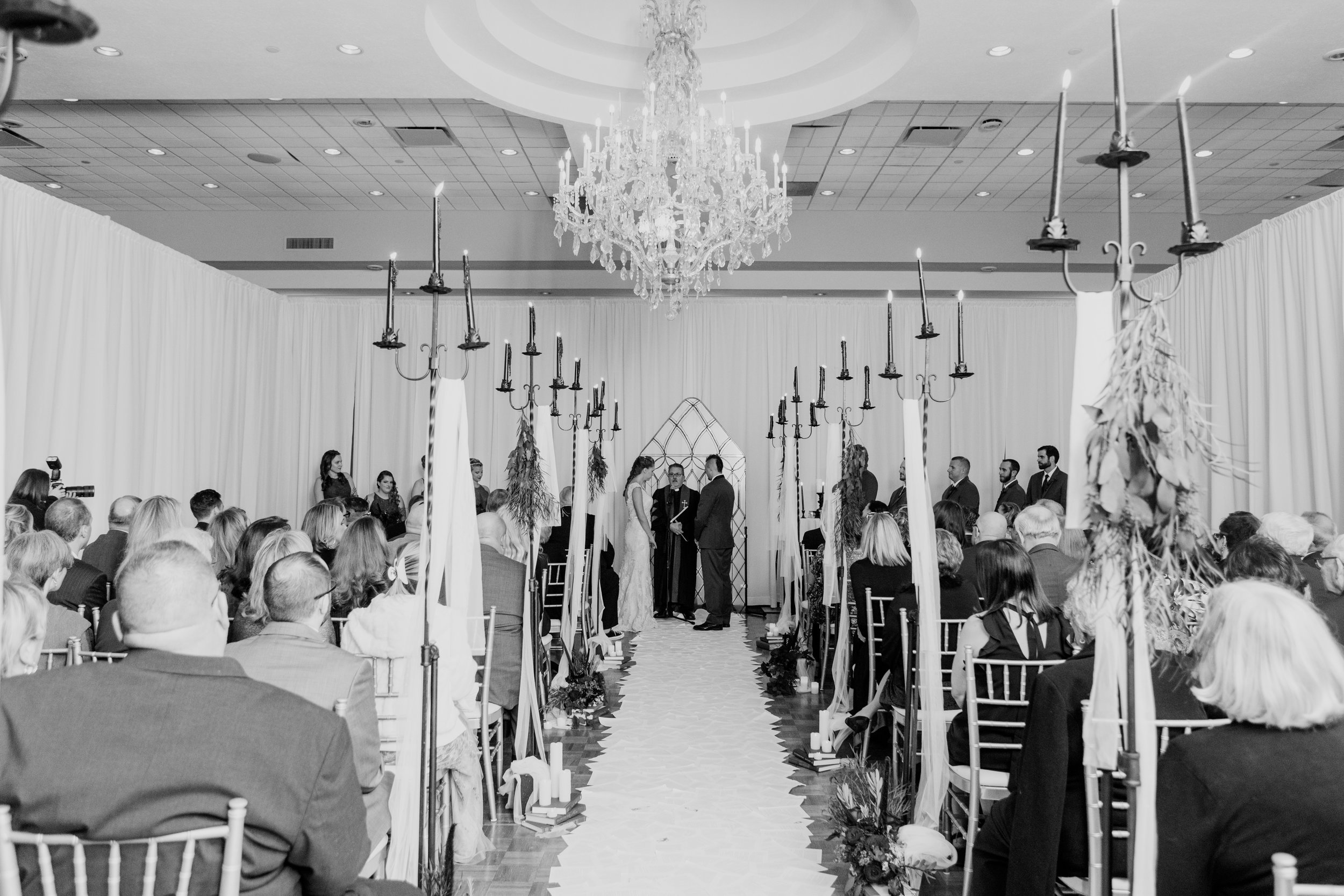 Book page aisle runner beauty and the beast inspired wedding ceremony at Buona Sera Palazzo