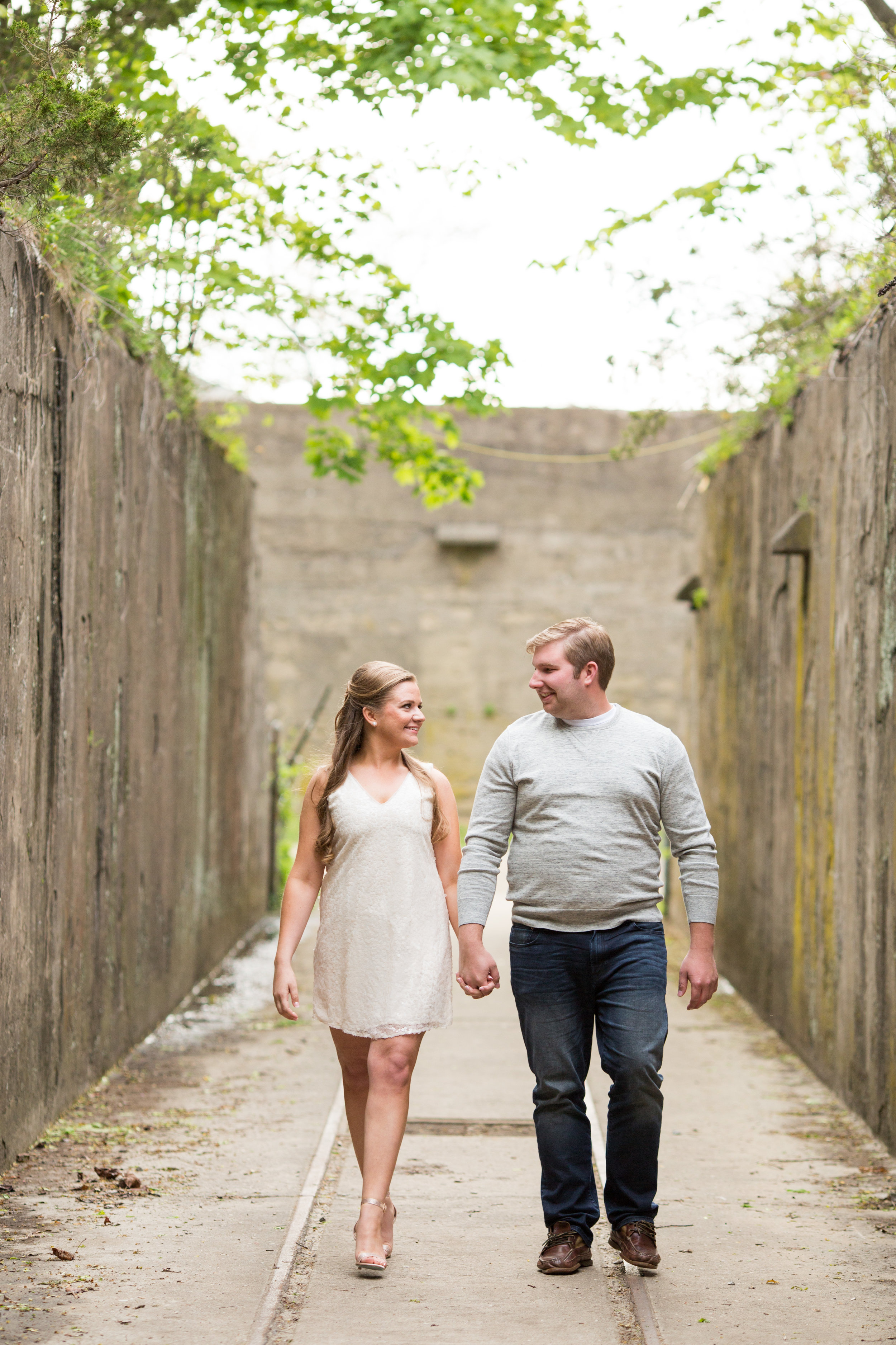 Sandy Hook New Jersey Beach Engagement Session with Magnolia West Events and Jaye Kogut Photography in Bunker