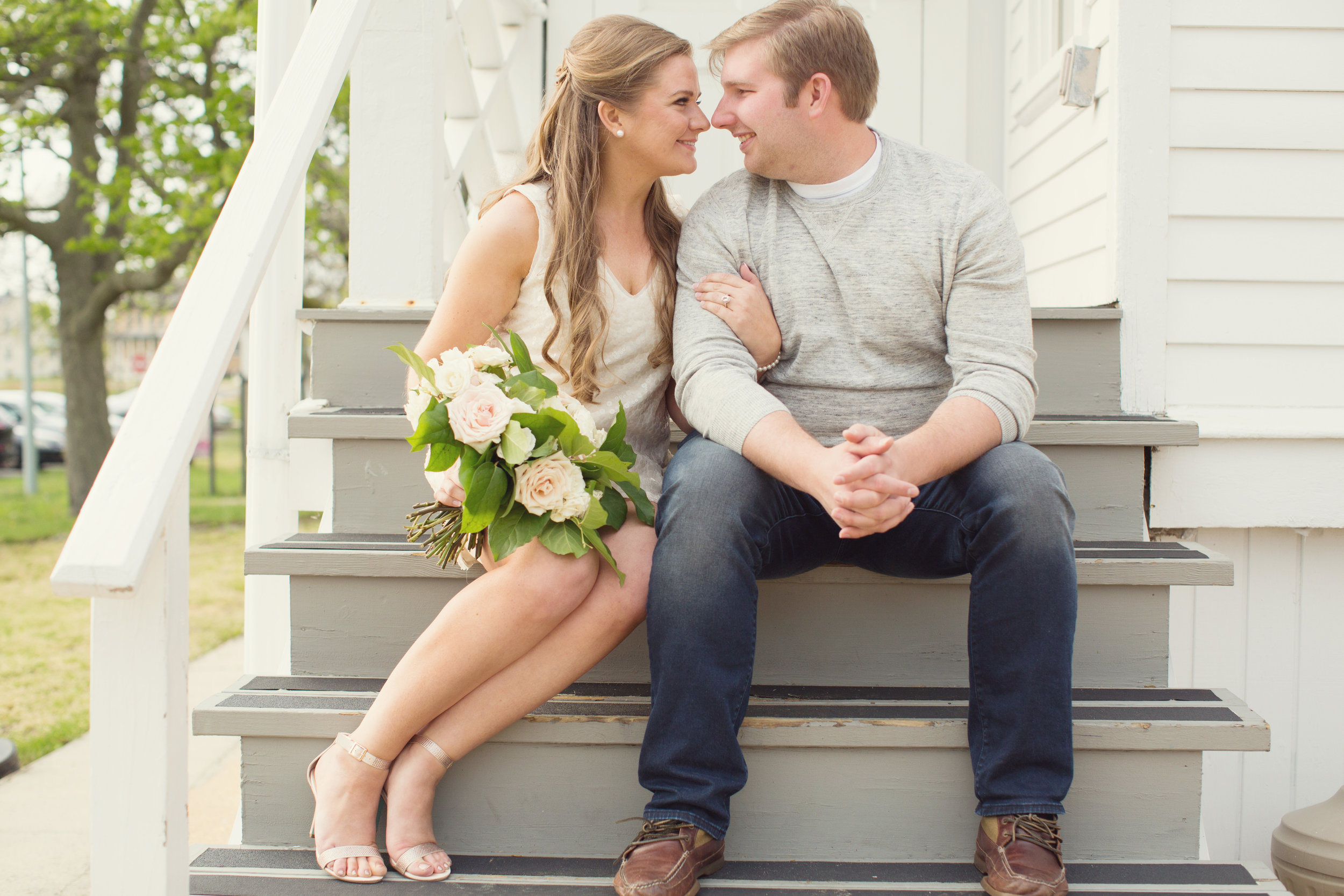 Sandy Hook New Jersey Beach Engagement Session with Magnolia West Events and Jaye Kogut Photography at Light House