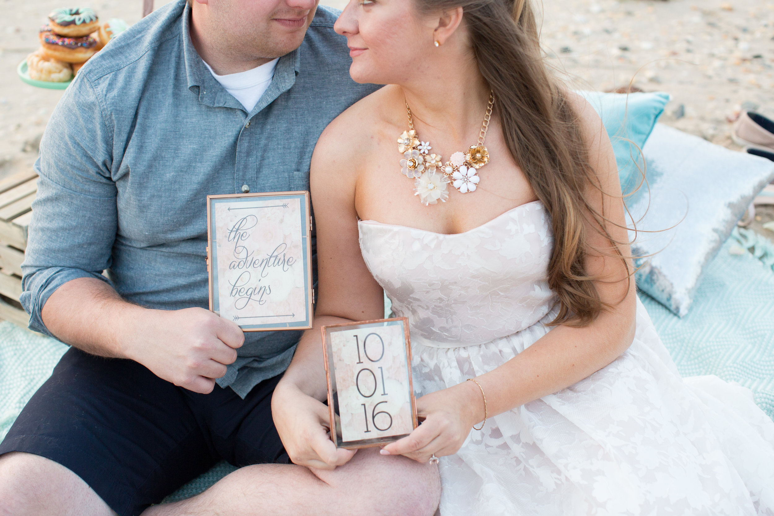 beach engagement save the date ideas