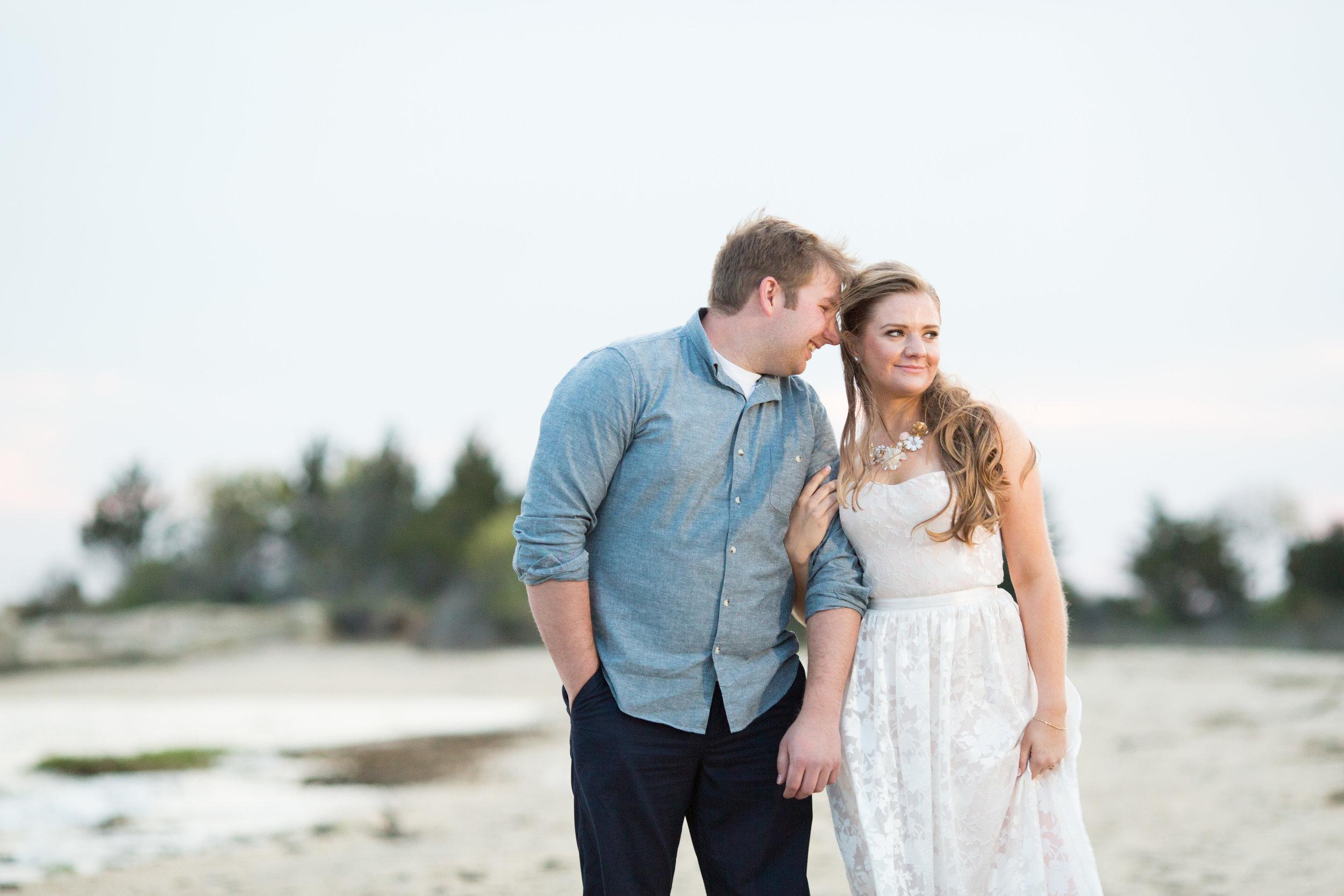 beach engagement photo shoot with jaye kogut photography at sandy hook