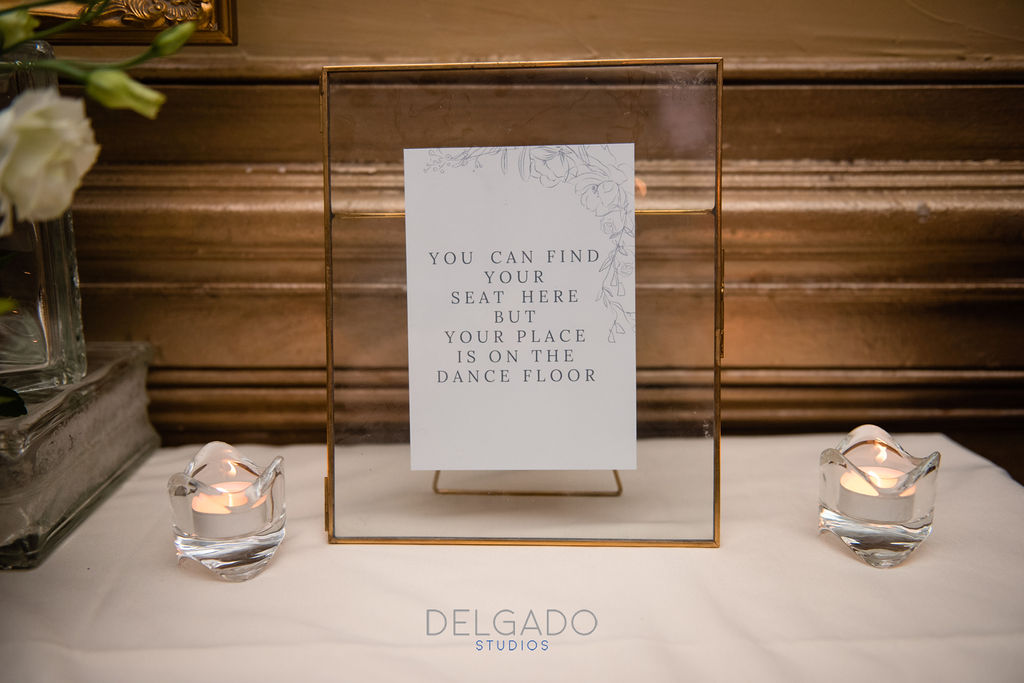 wedding place card sign