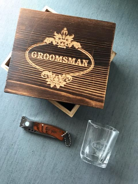 Customized Wood Groomsmen Gift Box