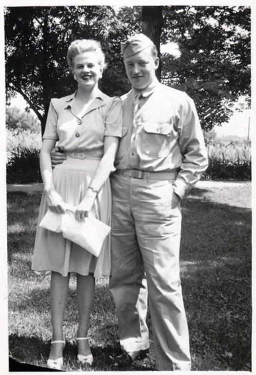 My parents, Joyce and Robert Lee, circa 1942