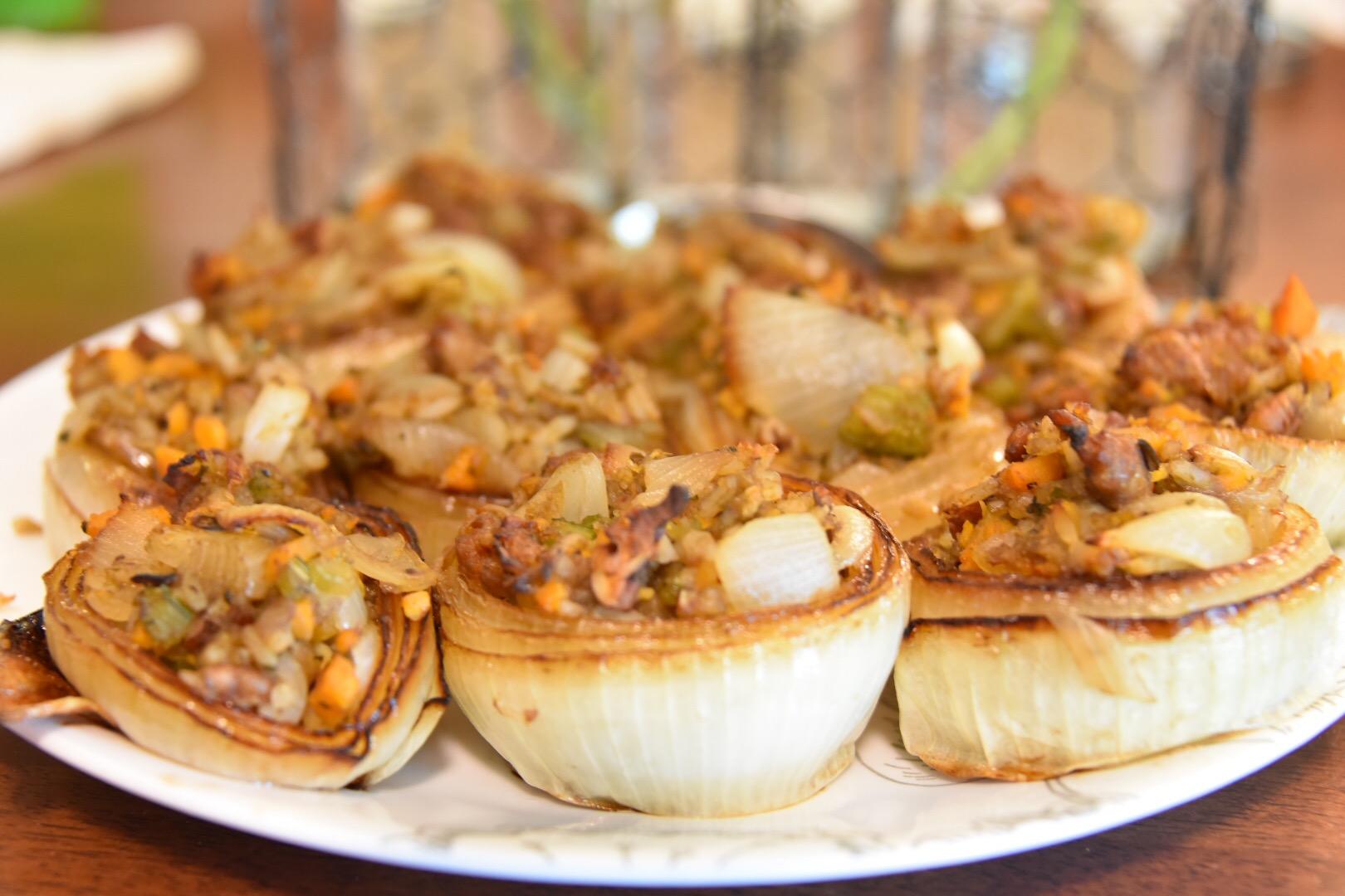 Sausage Stuffed Onions