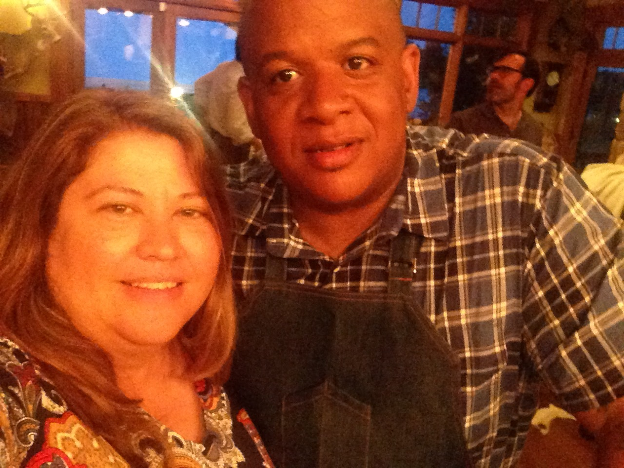 That's me taking my selfie with Chef Todd Richards