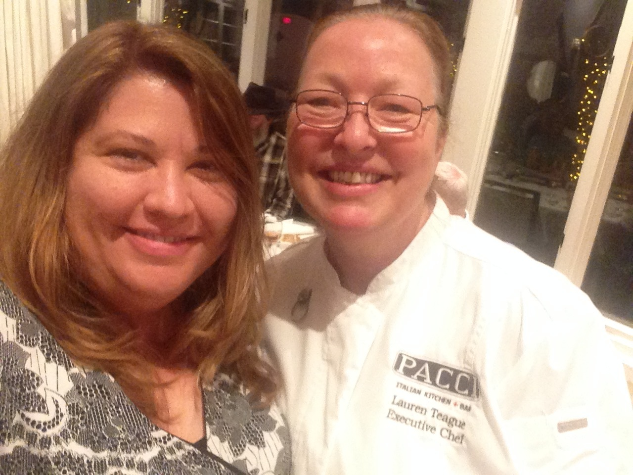 Me and Chef Lauren Teague of Pacci Italian Kitchen