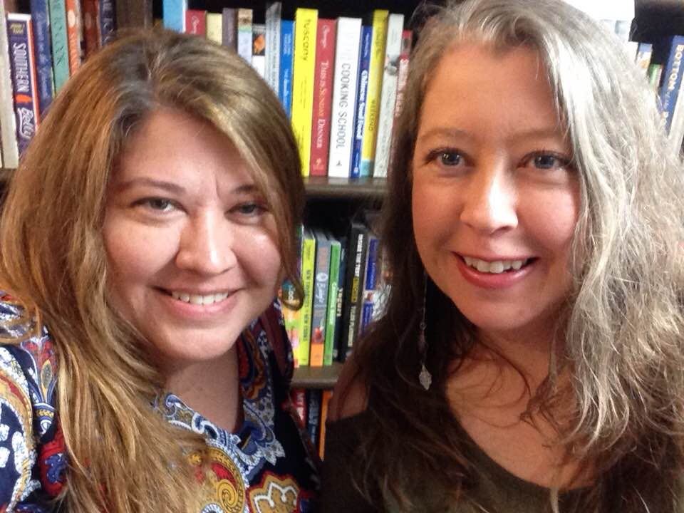 Me and my sister Kelly enjoying our time at E. Shaver Bookstore in Savannah while we there for Rebekah Faulk Lingenfelser's book launch for Some Kinda Good (look for a review to come on that one soon).