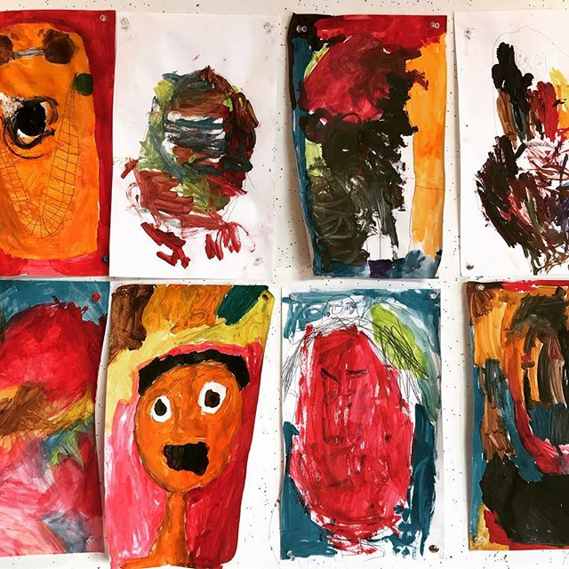 The many faces of NLArts. #faces #abstraction #watercolor #wintercamp2017