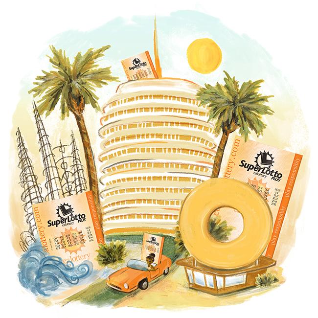 CA Lottery Illustration: Los Angeles