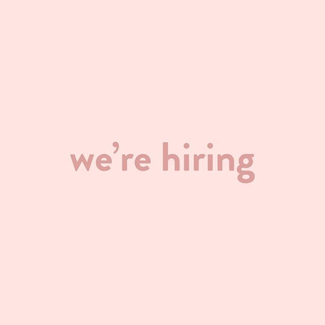 we're looking for sales associates and a social media intern. check out the link in our bio for more info. tag your friends!