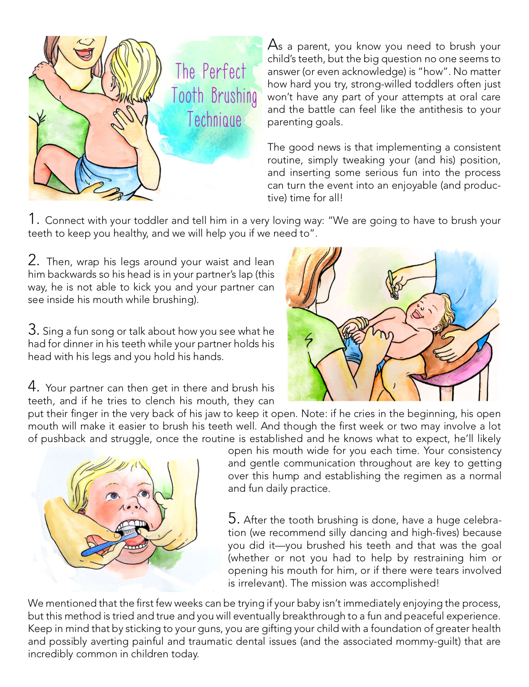 The Perfect Tooth Brushing Technique - PDF Download
