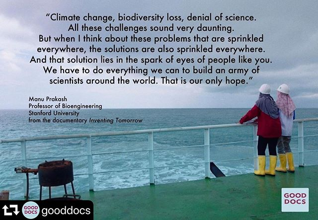 #repost @gooddocs ・・・ EDUCATORS & NONPROFITS: Get your COMPLIMENTARY copy of INVENTING TOMORROW! Fill out the form on the INVENTING TOMORROW page of our website: www.gooddocs.net/inventing-tomorrow  Thanks to #hhmitangledbankstudios for making this possible. *Available to educators and nonprofit organizations in the US & Canada @inventingtomorrowmovie . . . #environmentalstudies #STEM #stemeducation #environment #education #environmentalstudies #youthforclimate #environmentaleducation