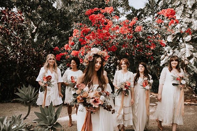 Bride tribe love 🌺 . V E N D O R S: planning: @christyvandco photography: @marisabraphotography videog: @v_mfphoto florals: @simpleflorals mua: @makeuppmgbylee  hair: @blond_studios cake: @bakebar rentals: @thesalvagesnob  tabletop: @themixdish  calligraphy: @salvagingeden dj: @eventfactor venue: @samsaramiami . . . . #floridaweddingplanner #miamiweddingplanner #ashevilleweddingplanner #charlotteweddingplanner  #floridaflorist #miamiflorist #ashevilleflorist #belovedstories #miamiwedding  #charlottewedding #charlottevenue #charlottephotographer #charlotteelopement #realmoments  #livecolorfully #lookslikefilm #thatsdarling #ohwowyes #floridianwedding #allthefeels #indiewedding #elopementphotographer #jupiterwedding #jupiterweddingplanner #floridiansocial #mrandmrs #bohowedding #bohobride #indiewedding #miamielopement #miamielopement